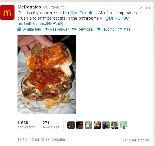Tweet de @BurgerKing